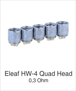 Eleaf HW-4 Head 0,3 Ohm bei eCigarette24